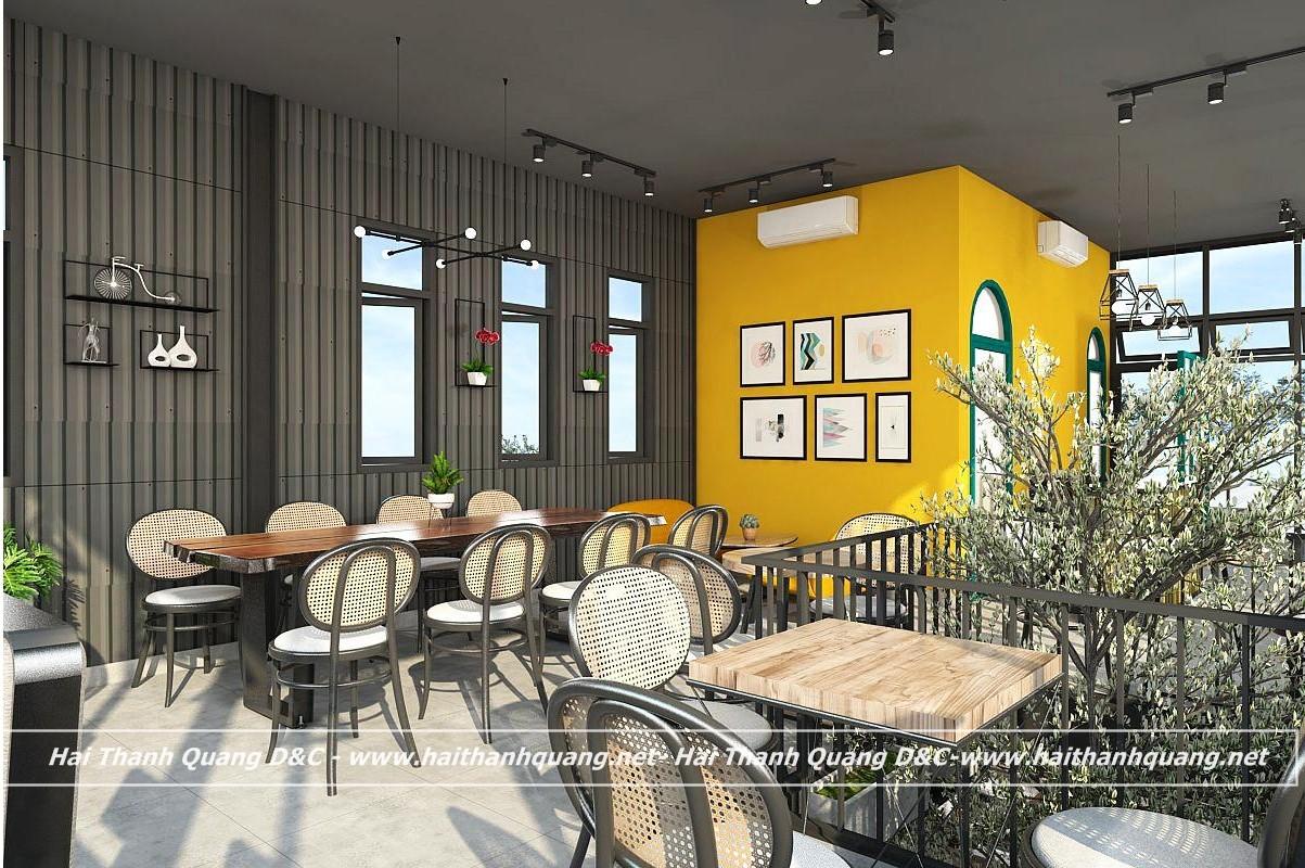 THIẾT KẾ QUÁN CAFE Ở QUY NHƠN HTQ026