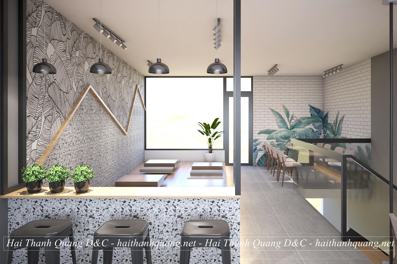 Thiết Kế Quán Cafe Ở Quy Nhơn HTQ033