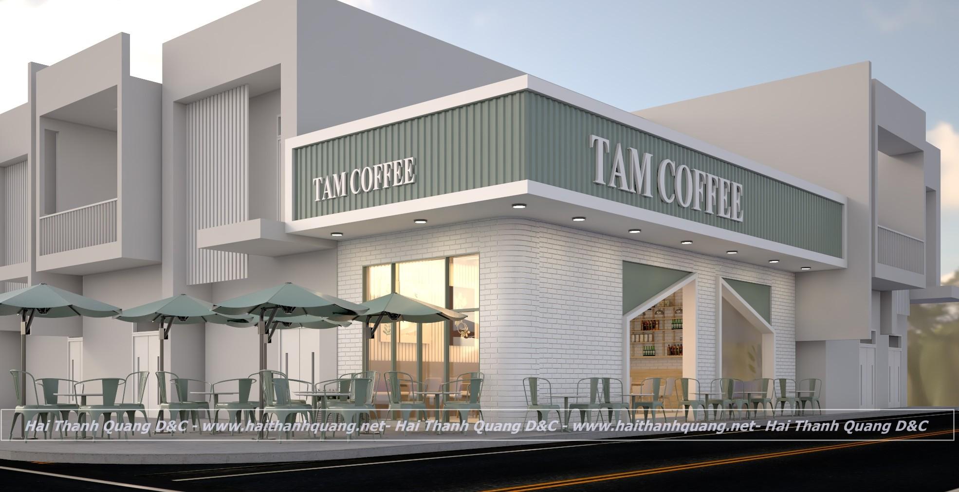THIẾT KẾ THI CÔNG QUÁN CAFE Ở QUY NHƠN HTQ001