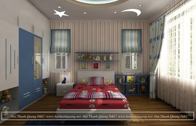 Thiết Kế Phòng Ngủ Ở Quy Nhơn HTQ007