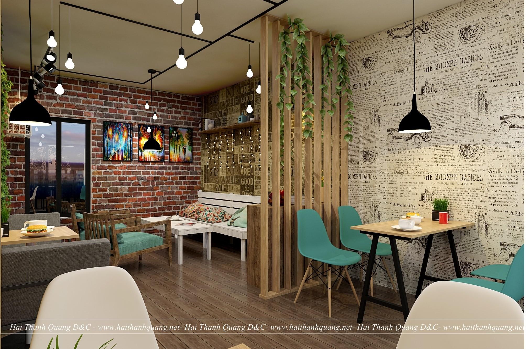 Thi Công Quán Cafe Ở Quy Nhơn HTQ008