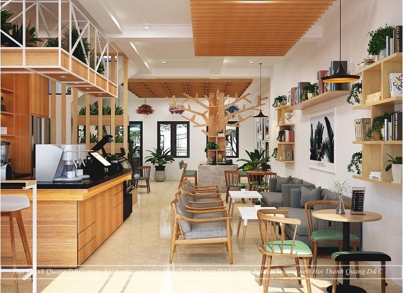 Thi Công Quán Cafe Ở Quy Nhơn HTQ006