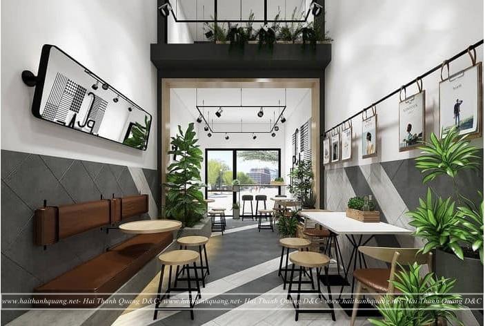 Thi Công Quán Cafe Ở Quy Nhơn HTQ009