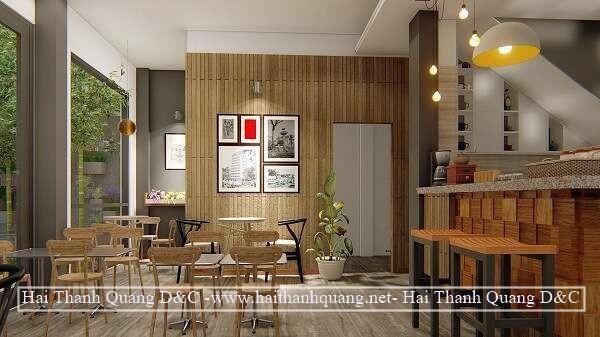 Thi Công Quán Cafe Ở Quy Nhơn HTQ002