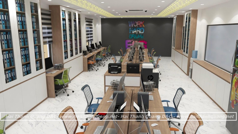 Thiết kế nội thất văn phòng ở Quy Nhơn HTQ001