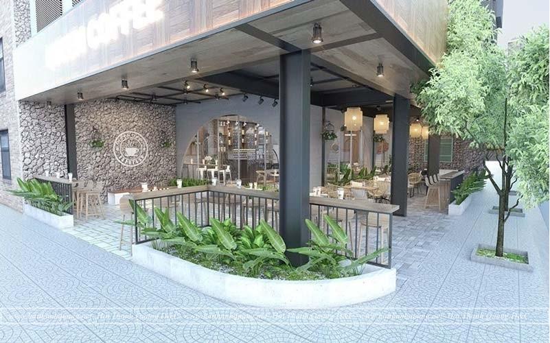 Thiết Kế Quán Cafe Ở Quy Nhơn HTQ043