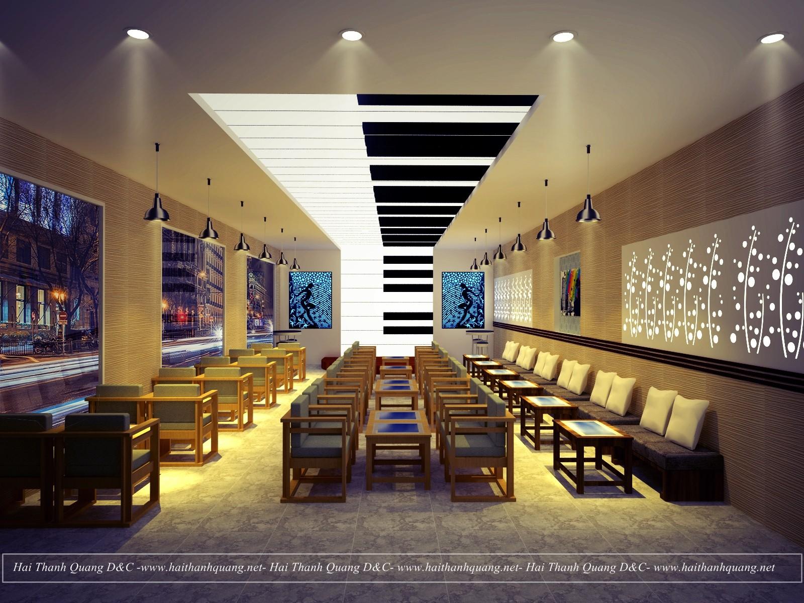 Thiết Kế Quán Cafe Ở Quy Nhơn HTQ030