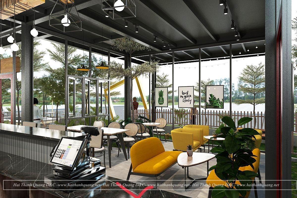 Thiết Kế Quán Cafe Ở Quy Nhơn HTQ032