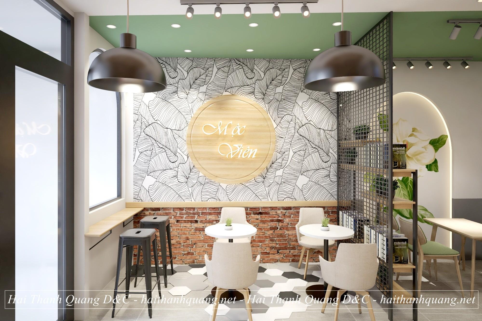 THIẾT KẾ QUÁN CAFE Ở QUY NHƠN HTQ029
