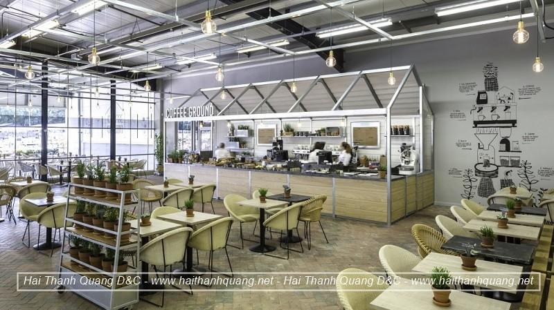 Thiết Kế Quán Cafe Ở Quy Nhơn HTQ038