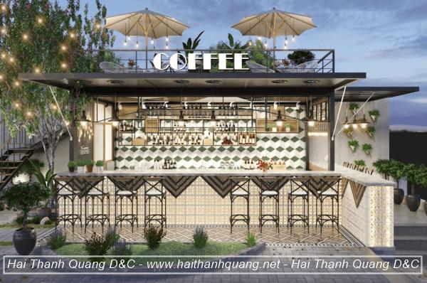 Thiết Kế Quán Cafe Ở Quy Nhơn HTQ037