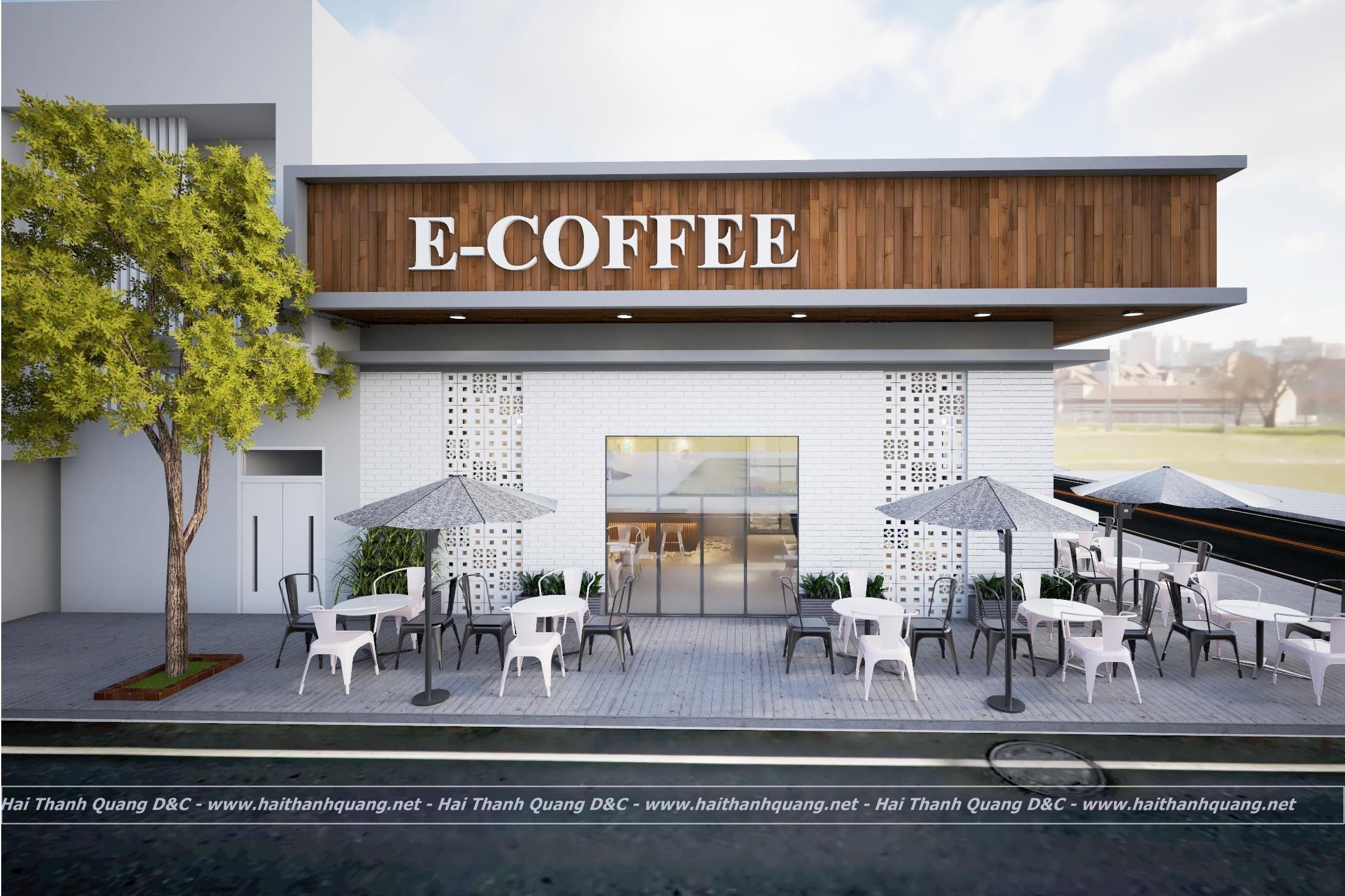 THIẾT KẾ THI CÔNG QUÁN CAFE Ở QUY NHƠN HTQ002