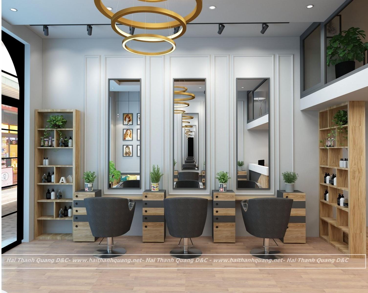 Thiết Kế Thi Công Salon Tóc Ở Quy Nhơn HTQ001